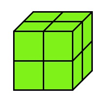 sube cut into 8 cubes